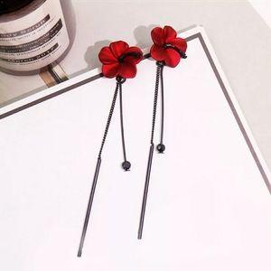 - 🔴Retro flowers Tassel earrings